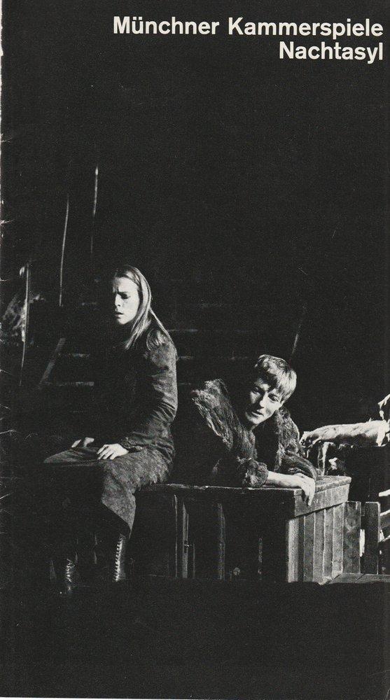 Programmheft Maxim Gorki NACHTASYL Münchner Kammerspiele 1976