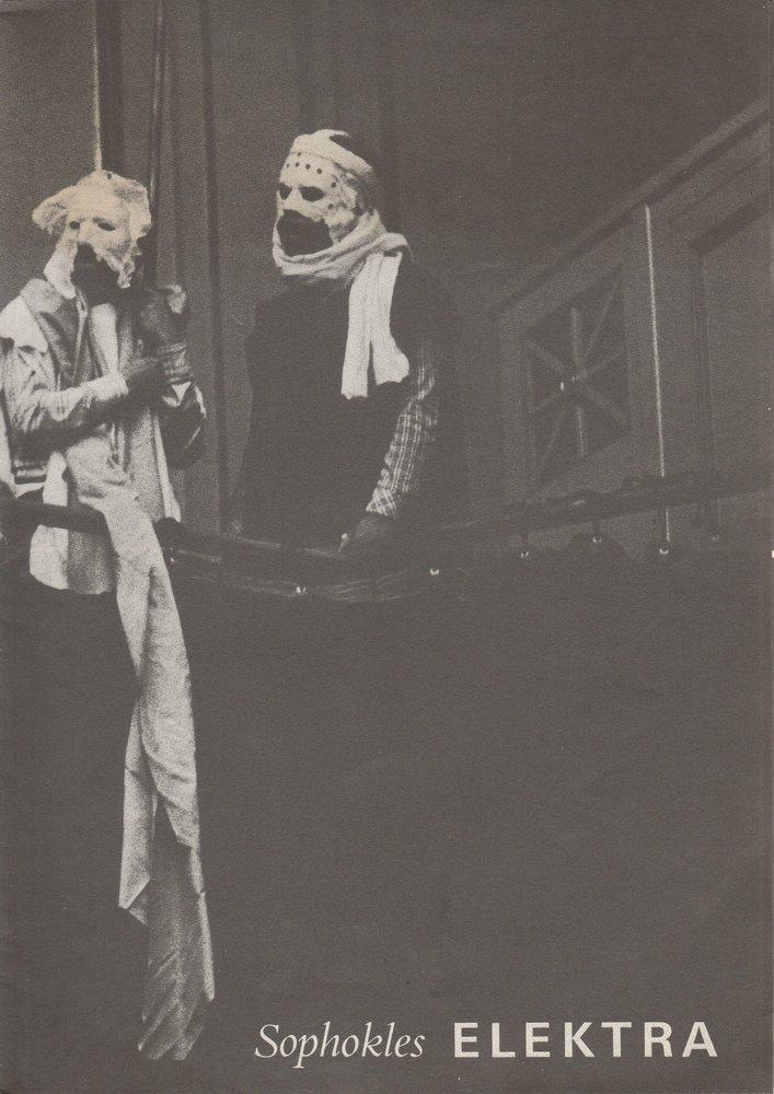 Programmheft Sophokles ELEKTRA Deutsches Theater 1980
