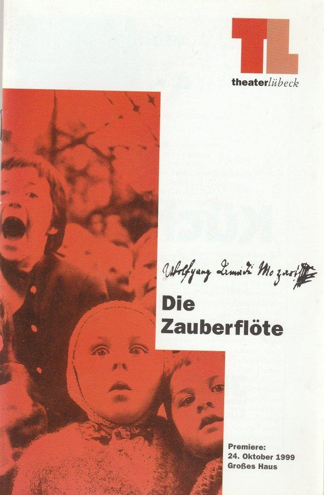 Programmheft Wolfgang Amadeus Mozart DIE ZAUBERFLÖTE Theater Lübeck 1999
