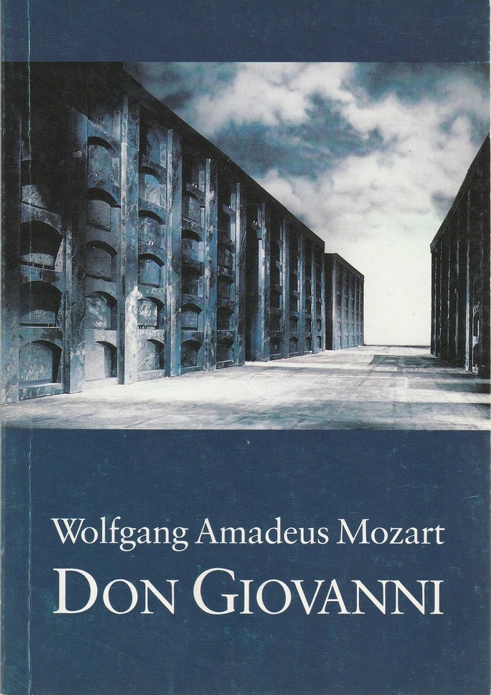 Programmheft Wolfgang Amadeus Mozart DON GIOVANNI Staatstheater Darmstadt 1988