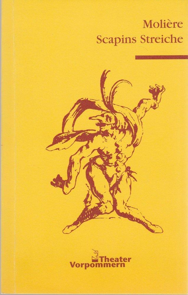 Programmheft Moliere SCAPINS STREICHE Theater Vorpommern 2000