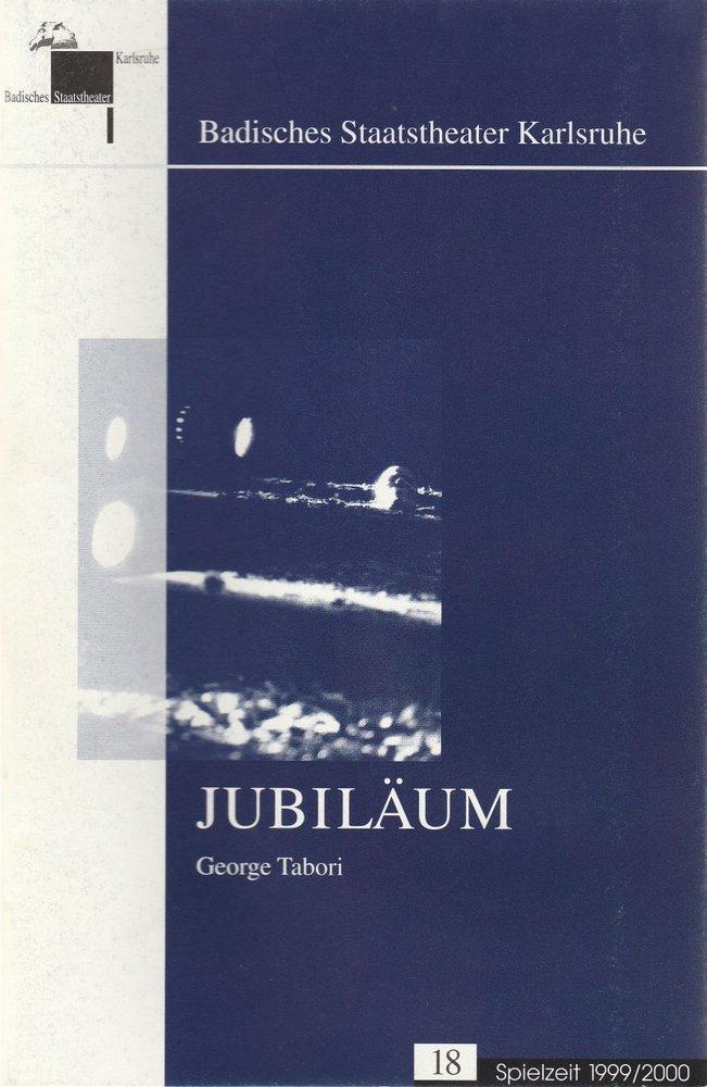 Programmheft George Tabori JUBILÄUM Badisches Staatstheater Karlsruhe 2000