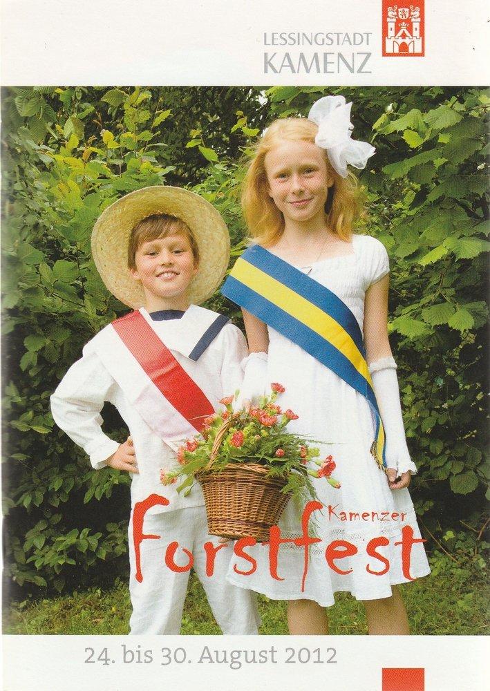 Programmheft Kamenzer Forstfest 24. bis 30. August 2012