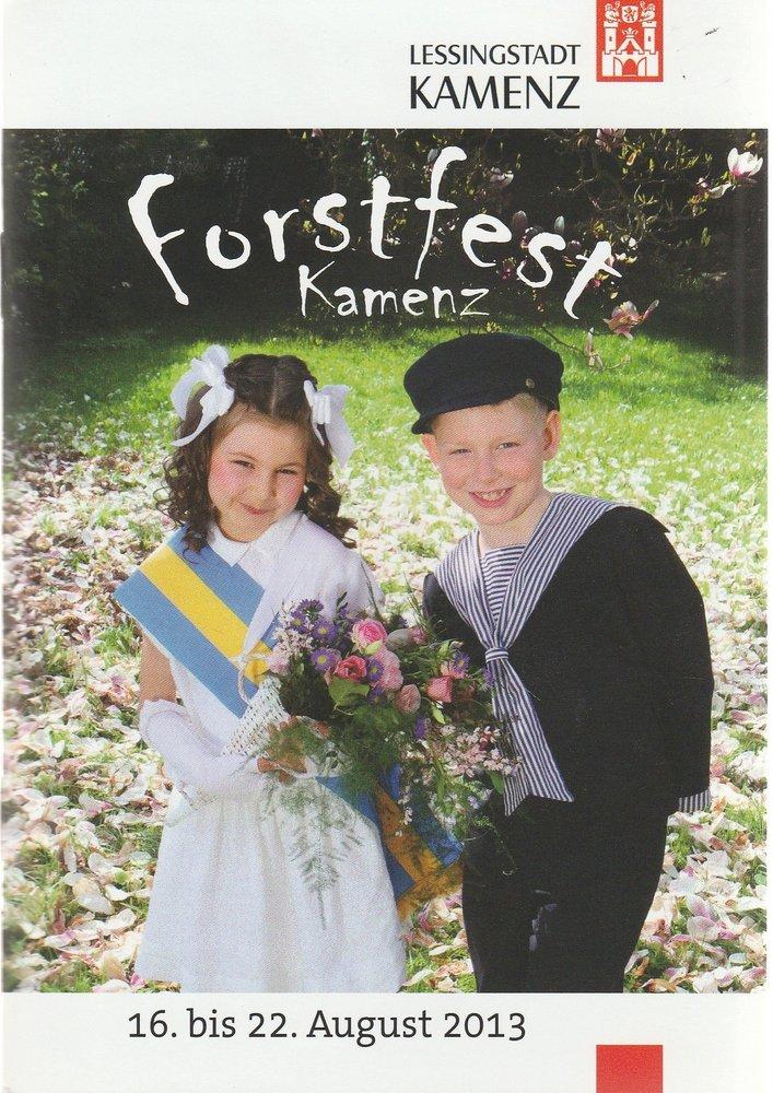 Programmheft Kamenzer Forstfest 16. bis 22. August 2013
