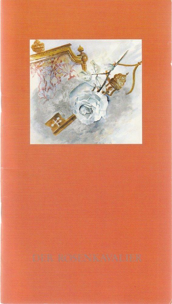 Programmheft Richard Strauss DER ROSENKAVALIER Oper Köln 1986