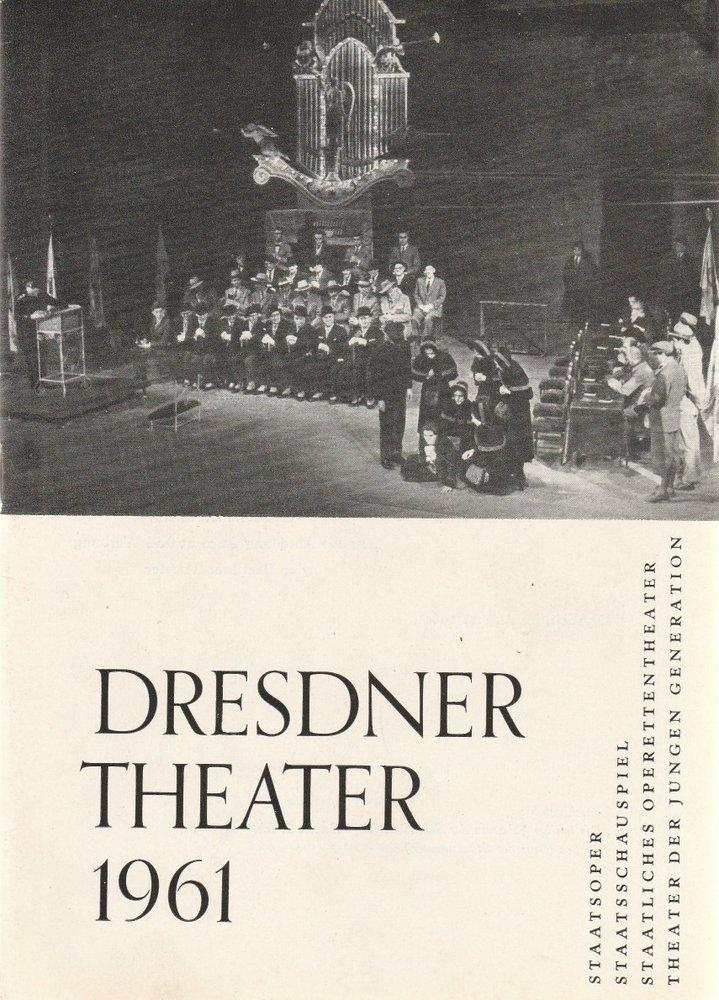 Programmheft DRESDNER THEATER Spielzeitheft 1961