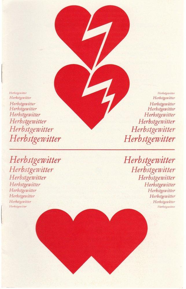 Programmheft Urauf. Henry Krtschil HERBSTGEWITTER Staatsoperette Dresden 1983