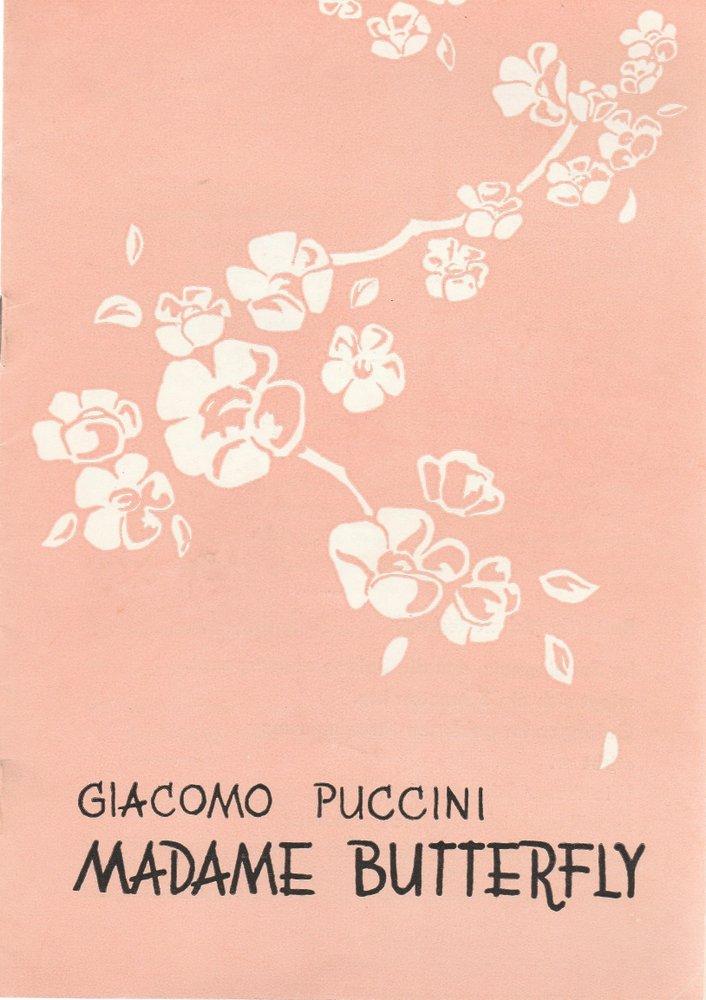 Programmheft Giacomo Puccini MADAME BUTTERFLY Kreistheater Annaberg 1972