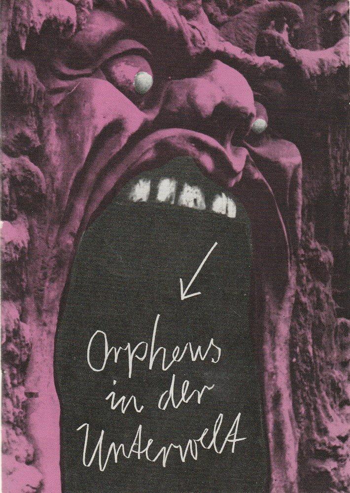 Programmheft Jacques Offenbach ORPHEUS IN DER UNTERWELT Leipziger Theater 1987