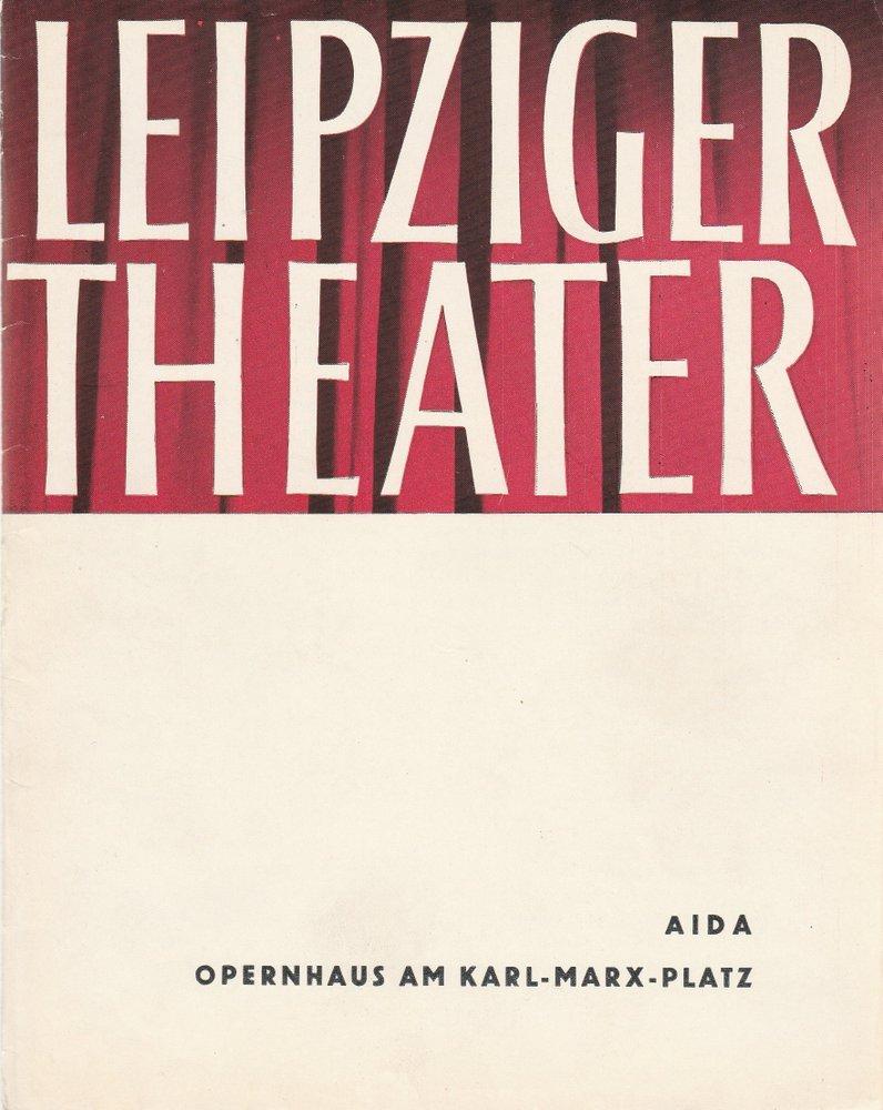 Programmheft Giuseppe Verdi AIDA Städtische Theater Leipzig 1962