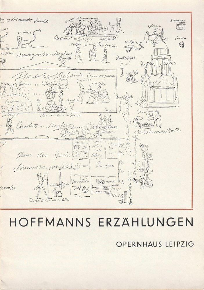 Programmheft Jacques Offenbach HOFFMANNS ERZÄHLUNGEN Theater Leipzig 1968