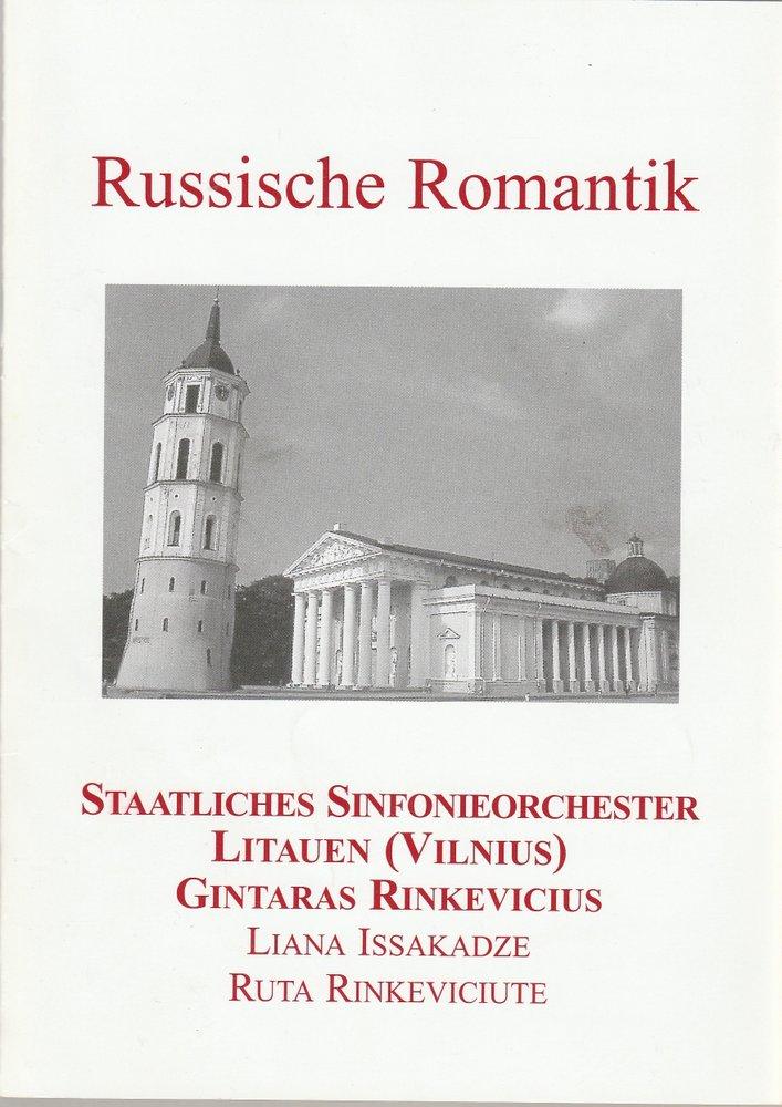 Programmheft Russische Romatik STAATLICHES SINFONIEORCHESTER LITAUEN  2005
