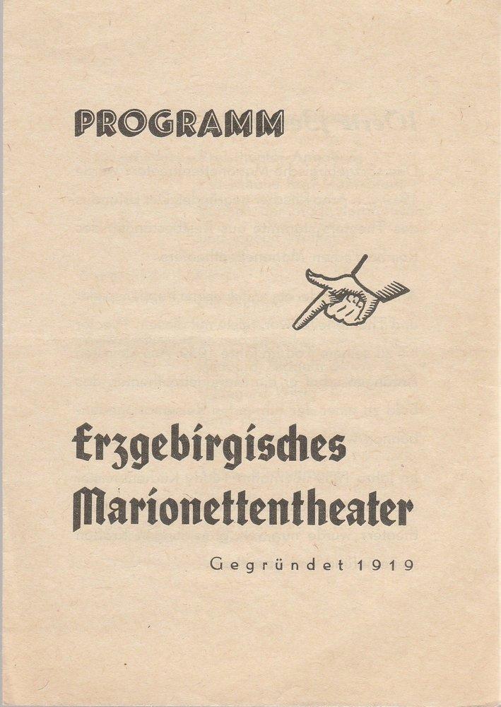 Programmheft Ergebirgisches Marionettentheater 1972