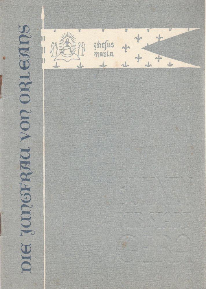 Programmheft Friedrich Schiller DIE JUNGFRAU VON ORLEANS Bühnen Gera 1959