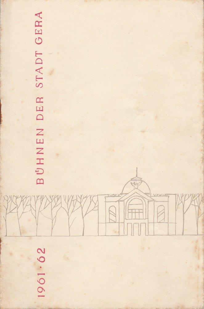 Programmheft Ludwig van Beethoven EGMONT Bühnen der Stadt Gera 1962