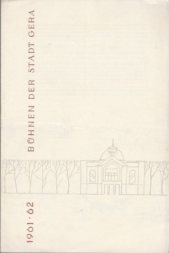 Programmheft Helmut Sakowski WEIBERZWIST UND LIEBESLIST Bühnen Gera 1962
