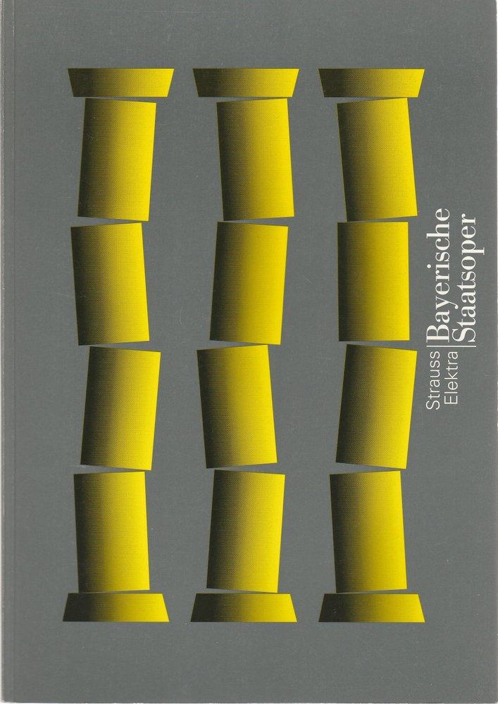 Programmheft ELEKTRA von Richard Strauss Bayerische Staatsoper 1997