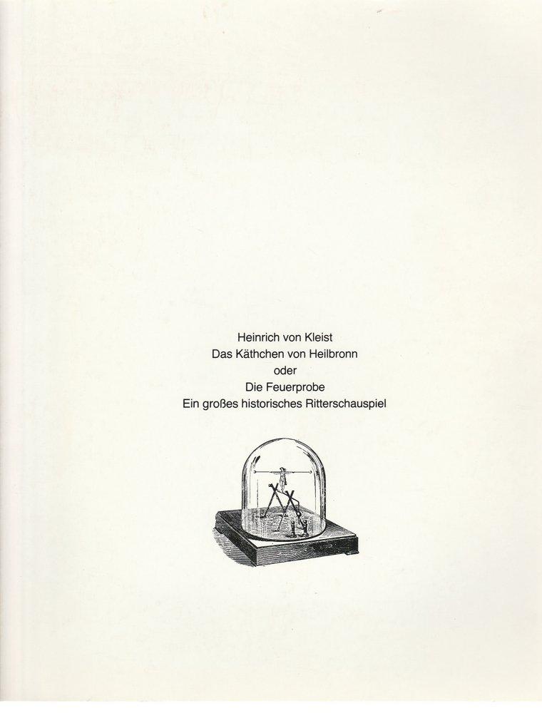 Programmheft Kleist DAS KÄTHCHEN VON HEILBRONN Schauspiel Köln 1979
