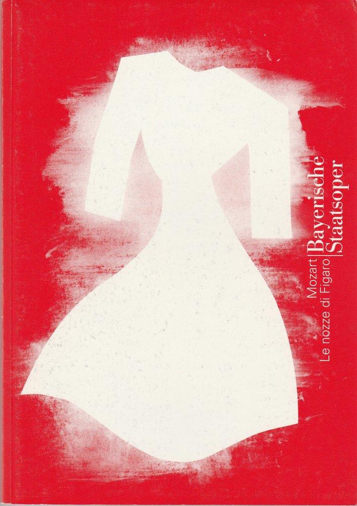 Programmheft Mozart LE NOZZE DI FIGARO Bayerische Staatsoper 1997
