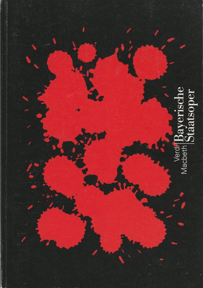 Programmheft Giuseppe Verdi MACBETH Bayerische Staatsoper 1997